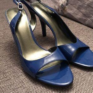 Nine West Royal Blue Sandal Heels 9.5